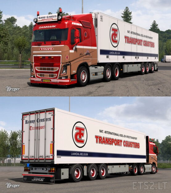Volvo FH16 2012 Ronny Ceusters Skin Pack by Wexsper
