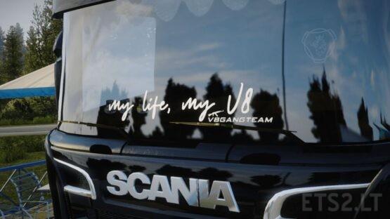 My Life My V8 #V8GANGTEAM Sticker