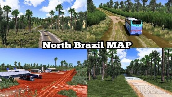 NEW NORTH BRAZIL MAP 5.5 – ETS2 1.41