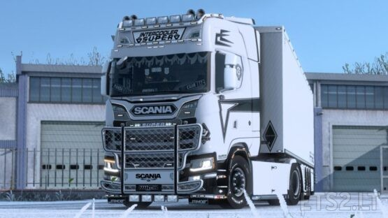 Holland Style White and Black skin for Next Gen SCS and Eugene Scania by Enixis Modding