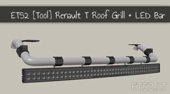 RENAULT T ROOF GRILL + LED BAR 1.41.X