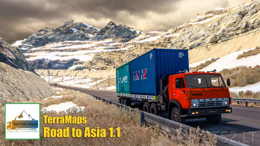 Road to Asia 1.1 Map Mod Afghanistan Turkmenistan North & South Korea – ETS2 1.41