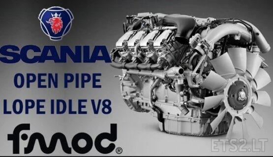 SCANIA OPEN PIPE LOPE IDLE V8 V1.1