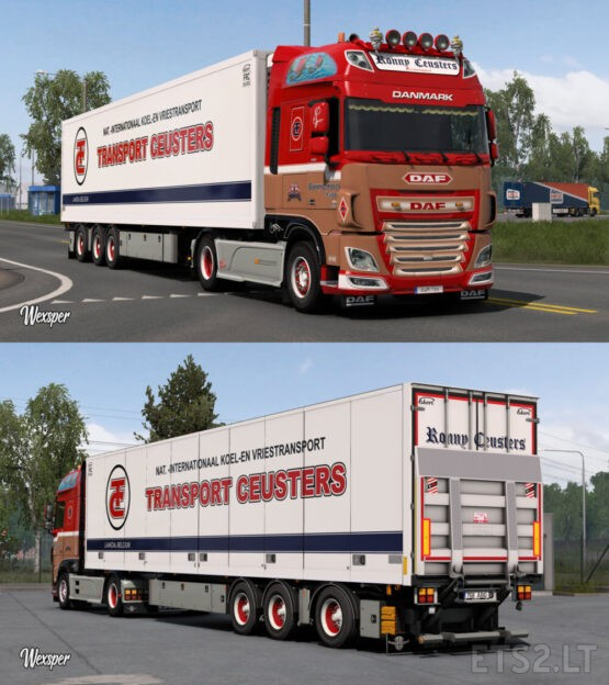 DAF XF Euro 6 Ronny Ceusters skin pack by Wexsper