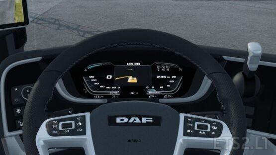 High Quality Dashboard – DAF 2021 XG & XG+ V2.2.1 [With GPS Included]
