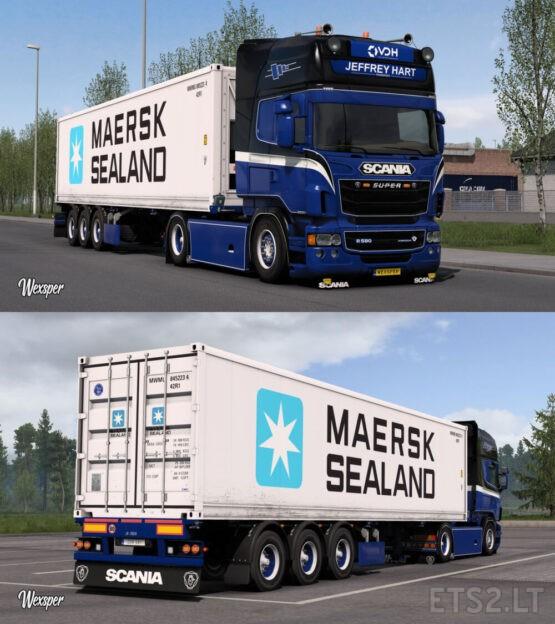 Scania RJL Jeffrey Hart skin pack by Wexsper