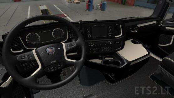 Scania S and R 2016 – Black / Beige Interior