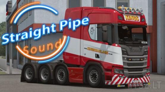 Straight Pipe Sound Scania for all SCS trucks – V 1.0