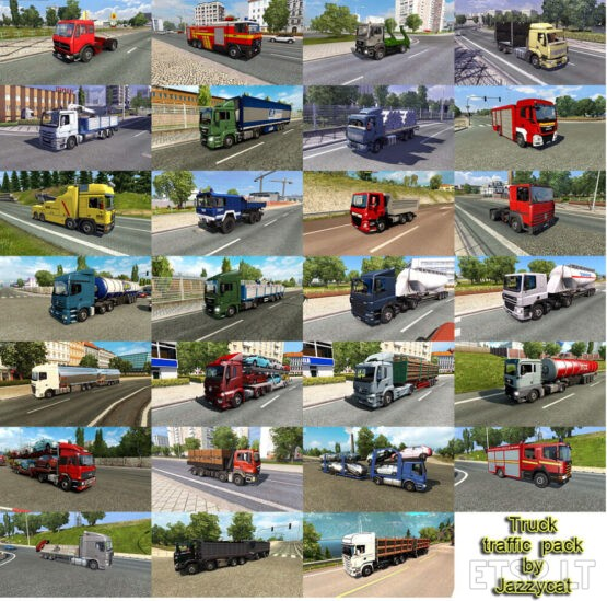 Truck Traffic Pack by Jazzycat v5.9